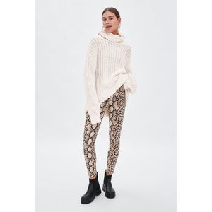 ZARA Denim Collection Snakeskin Jeans High Waist
